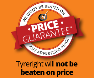 Tyreright will not be beaten on price!