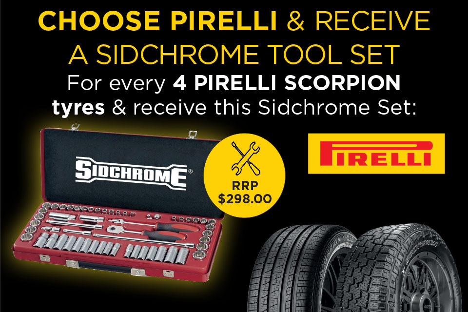 Free Sidchrome Tool Set with Pirelli and Tyreright