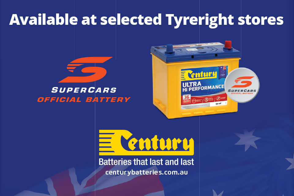 Century Available at selected Tyreright stores