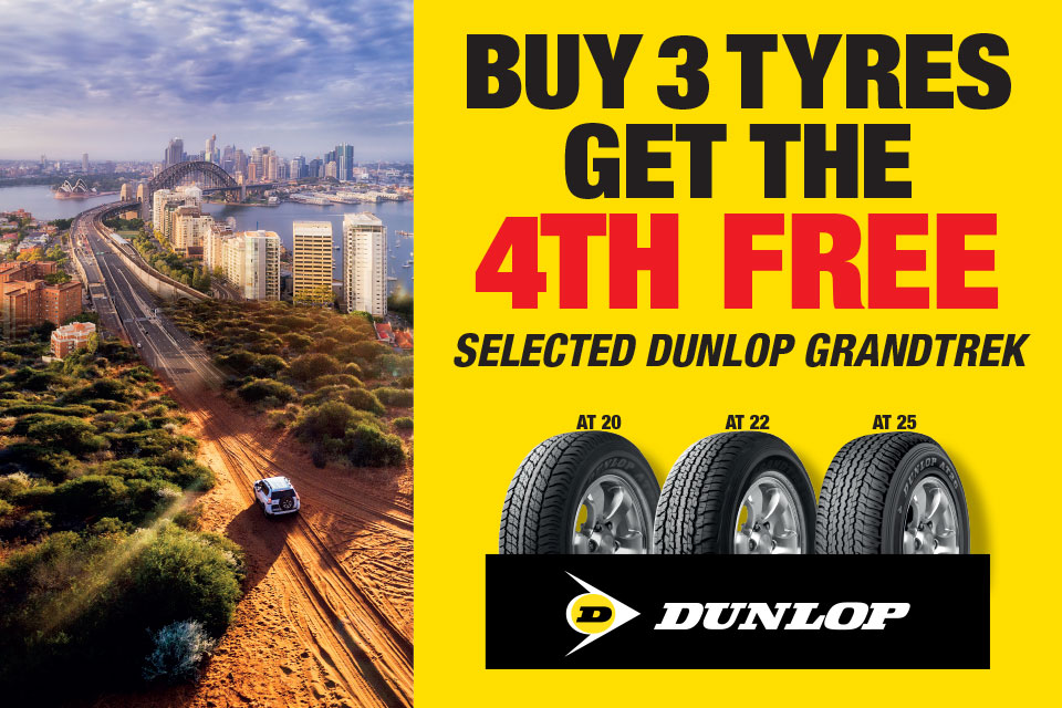 Buy 3 Dunlop Tyres Get The 4th Free