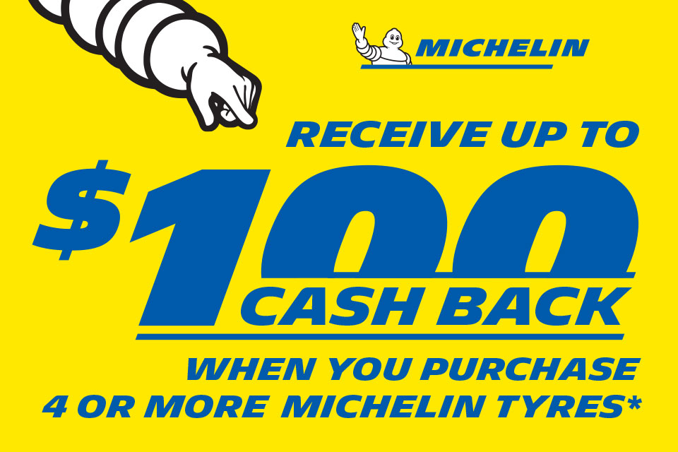 Michelin Receive up to $100 Cashback