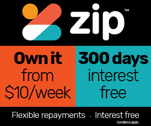300 days interest free with Zip!