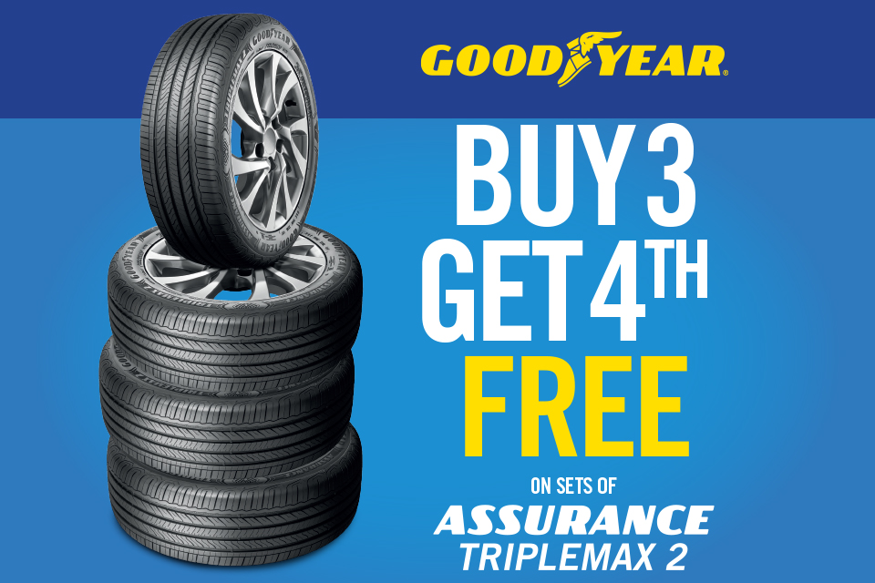 Goodyear Buy 3 Get 4th Free