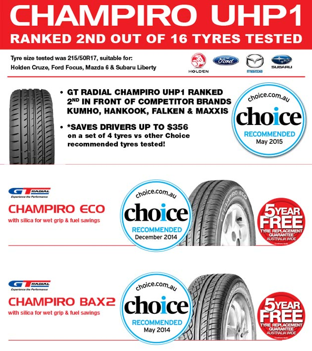 GT Radial Choice Tyre Test Champiro UHP1