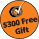 Free gift worth up to $300 with purchase