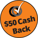 50 dollar cash back with purchase